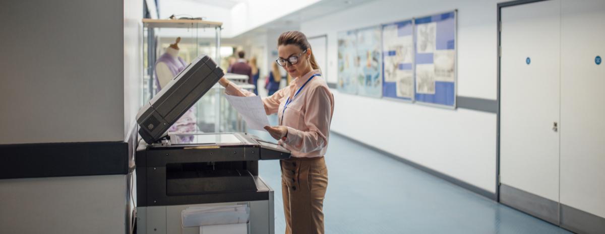 teacher printing