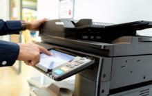 touchscreen on a printer